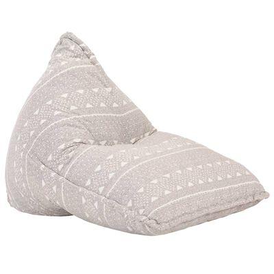 vidaXL Canapea tip sac, maro deschis, material textil, petice