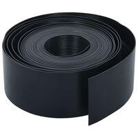 vidaXL Bordură de grădină, negru, 10 m, 10 cm, PE
