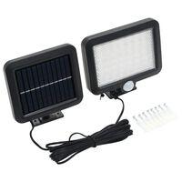 vidaXL Lampă solară cu senzor de mișcare, lumini LED, alb