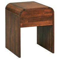 vidaXL Noptieră, lemn masiv de acacia, 41,5 x 42 x 52 cm