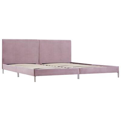 vidaXL Cadru de pat, roz, 180 x 200 cm, material textil
