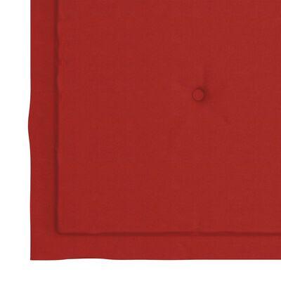 vidaXL Perne scaun de grădină, 2 buc., roșu, 40x40x4 cm, textil