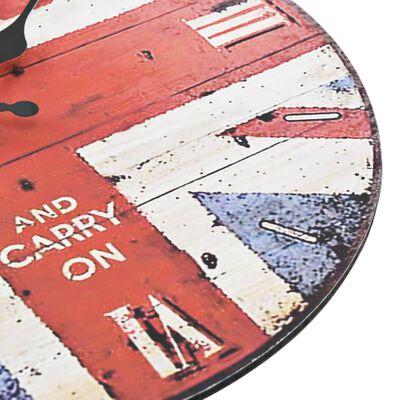 vidaXL Ceas de perete vintage UK, 30 cm
