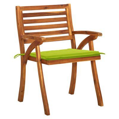 vidaXL Scaune de grădină cu perne, 8 buc., lemn masiv de acacia