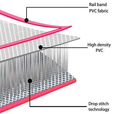 vidaXL Saltea gimnastică gonflabilă cu pompă roz 700x100x20 cm PVC