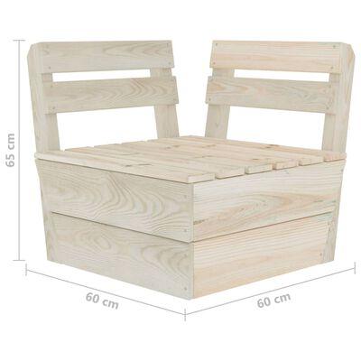 vidaXL Canapea de grădină din paleți, 4 locuri, lemn de molid tratat