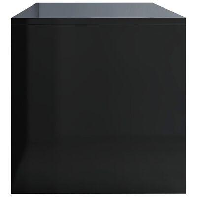 vidaXL Comodă TV, negru foarte lucios, 100 x 40 x 40 cm, PAL
