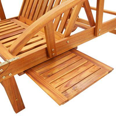 vidaXL Șezlong de grădină cu pernă, lemn masiv de acacia