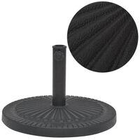 vidaXL Suport umbrelă de soare, rășină, rotund, negru, 29 kg
