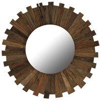 vidaXL Oglindă de perete, 70 cm, lemn masiv reciclat