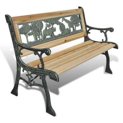 vidaXL Bancă de grădină pentru copii, 84 cm, lemn