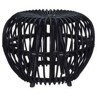 Home&Styling Taburet Brussel, negru, ratan kubu