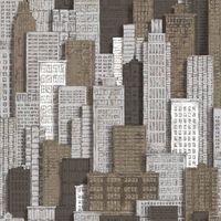 Urban Friends & Coffee Tapet City Apartments, alb și auriu
