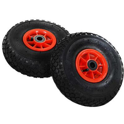vidaXL Roți cărucior industrial, 4 buc., cauciuc 3.00-4 (245x82)