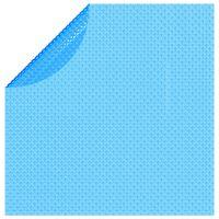 vidaXL Folie solară plutitoare piscină, rotundă, PE, 455 cm, albastru