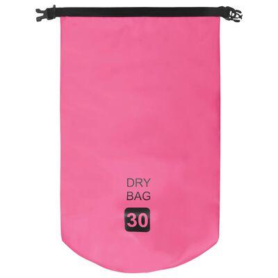 vidaXL Rucsac impermeabil, roz, 30 L, PVC