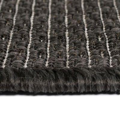 vidaXL Covor aspect sisal de interior/exterior, 120x170 cm, gri închis