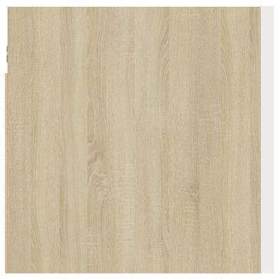 vidaXL Noptiere, 2 buc., alb și stejar Sonoma, 30,5x30x30cm, PAL