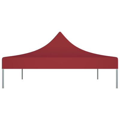 vidaXL Acoperiș pentru cort de petrecere, vișiniu, 4 x 3 m, 270 g/m²