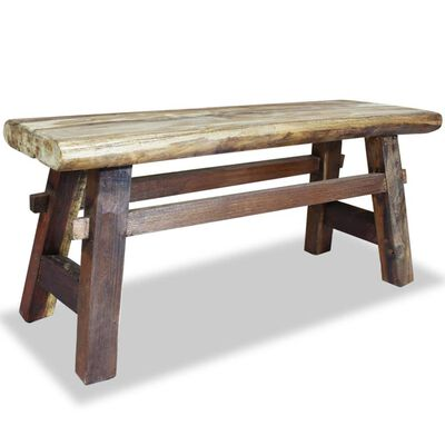 vidaXL Bancă din lemn masiv reciclat 100x28x43 cm