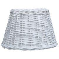vidaXL Abajur de lampă, alb, 45 x 28 cm, răchită