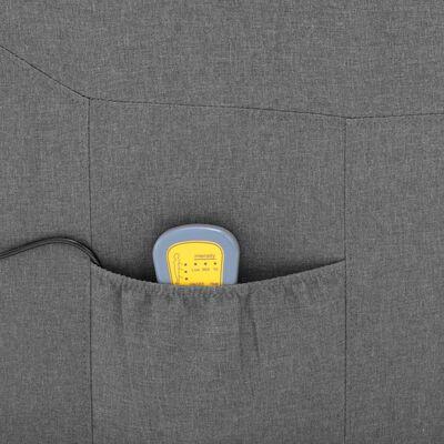 vidaXL Fotoliu de masaj rabatabil, gri deschis, material textil