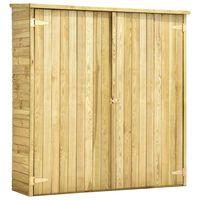 vidaXL Magazie unelte de grădină, 163x50x171 cm, lemn pin tratat