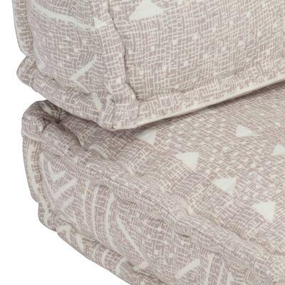 vidaXL Pernă pentru canapea din paleți, maro deschis, textil, petice