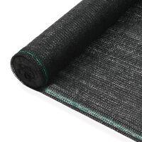 vidaXL Plasă teren de tenis, negru, 1,4 x 25 m, HDPE