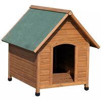 Kerbl Cușcă de câine, 100 x 88 x 99 cm, maro și verde, 82395