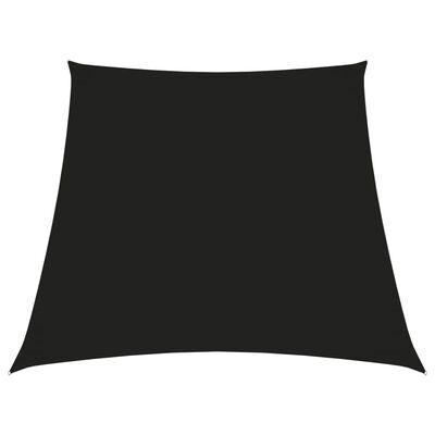 vidaXL Pânză parasolar, negru, 3/4x3 m, țesătură oxford, trapez