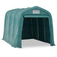 vidaXL Cort de garaj, verde, 2,4 x 3,6 m, PVC