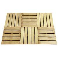 vidaXL Plăci de pardoseală, 6 buc., verde, 50 x 50 cm, lemn