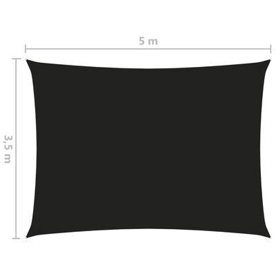vidaXL Parasolar, negru, 3,5x5 m, țesătură oxford, dreptunghiular