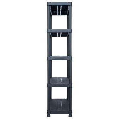 vidaXL Rafturi de depozitare 2 buc. negru 100x40x180 cm plastic 500 kg
