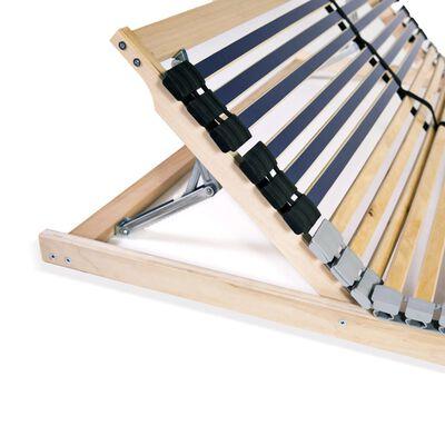 vidaXL Bază de pat cu șipci, 42 șipci, 7 zone, 120 x 200 cm