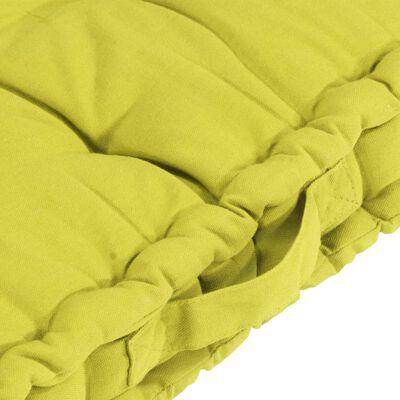 vidaXL Perne de podea pentru paleți, 5 buc., verde măr, bumbac