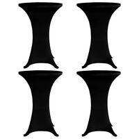 vidaXL Husă de masă cu picior, 4 buc., negru, Ø80 cm, elastic