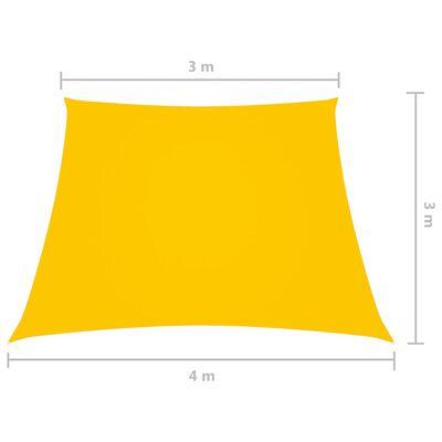 vidaXL Parasolar, galben, 3/4x3 m, țesătură oxford, trapez
