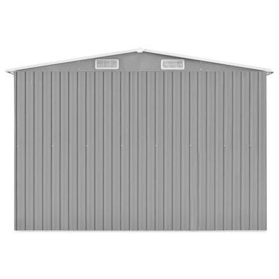 vidaXL Șopron de grădină, gri, 257x779x181 cm, oțel zincat
