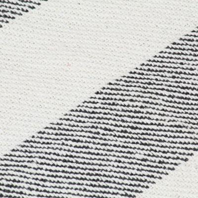 vidaXL Pătură decorativă, antracit, 220 x 250 cm, bumbac, dungi