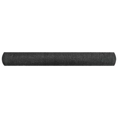 vidaXL Plasă protecție intimitate, negru, 3,6x10 m, HDPE, 195 g/m²