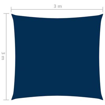 vidaXL Parasolar, albastru, 3x3 m, țesătură oxford, pătrat