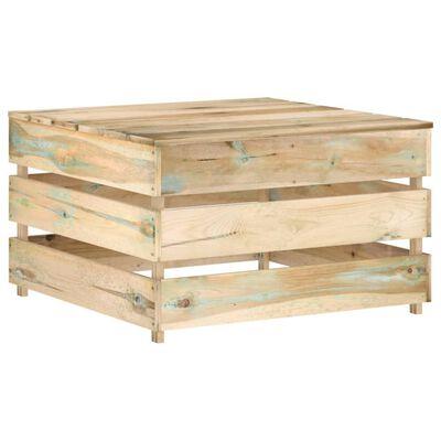 vidaXL Set mobilier grădină cu perne, 12 piese, lemn tratat verde