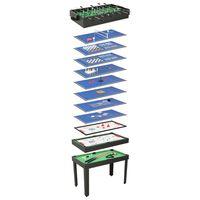 vidaXL Masă de jocuri multiple 15-în-1, 121 x 61 x 82 cm, negru