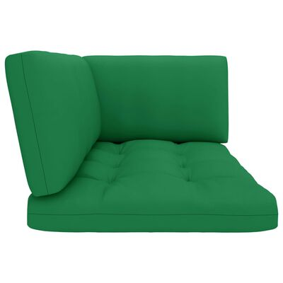 vidaXL Canapea din paleți 2 locuri cu perne, lemn verde de pin tratat