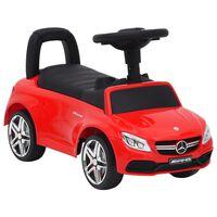 vidaXL Mașinuță pentru pași Mercedes-Benz C63, roșu