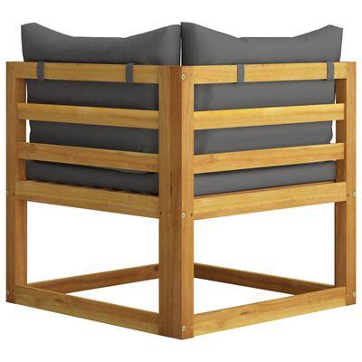 vidaXL Set mobilier de grădină cu perne, 8 piese, lemn masiv acacia