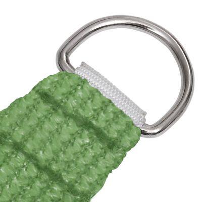 vidaXL Pânză parasolar, verde deschis, 2,5x4 m, HDPE, 160 g/m²