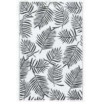 vidaXL Covor de exterior, alb și negru, 80x150 cm, PP